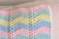 Double Crochet Ripple Afghan Pattern Cool Pastel Single Shell Ripple Afghan FaveCrafts