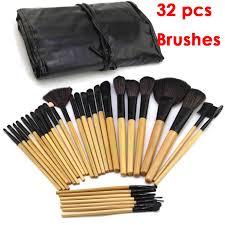 32 pcs 32pcs cosmetic make up brush kit makeup brushes tools set black pouch bag