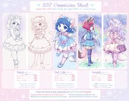 commission sheet 2017 commission sheet open waitlist by kinies fur
