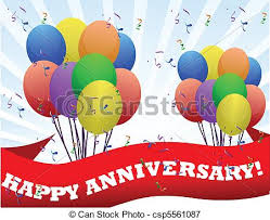 happy anniversary banners happy anniversary banner and balloons illustration vectors