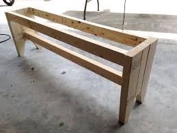 diy outdoor farmhouse table. DIY Farmhouse Bench - Step 2 Diy Outdoor Table