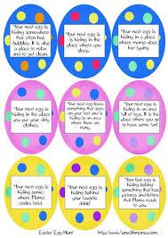 easter egg hunt template printable easter egg hunt ideas clues spring easter pinterest