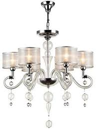 camilla and marc maytoni modern designer chandelier ceiling lamp nickel frame with deco silver bubbles transpa