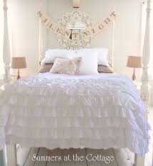 snow white ruffle comforter set vintage farmhouse chic queen or king from 229 95