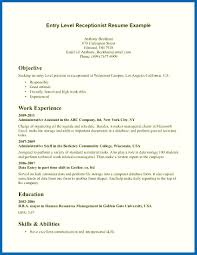 Entry Level Resume Example Objective For Resume No Work Experience Entry Level Customer Service 44