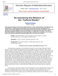 reexamining the rhetoric of the cultural border pdf  reexamining the rhetoric of the cultural border pdf available