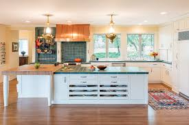 terrific cow kitchen rug with blue countertop pot rack marble mosaic tiles