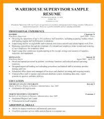 Warehouse Resume Format Sample Resume Format For Warehouse Manager