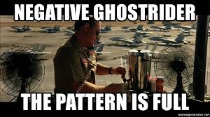 Negative Ghostrider The Pattern Is Full