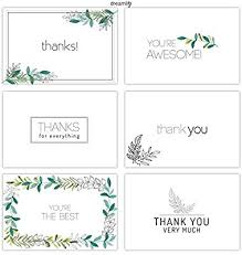 Thank You Note Size Amazon Com Thank You Cards 36 Floral Thank You Note Cards