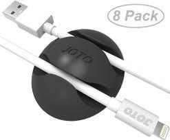 Cable Clips, Cord Management System [8 pcs], JOTO Desktop Cable Organizer,  Desk Wall Cable Wire Clip, Computer, ...