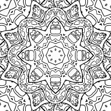 シームレスな黒と白のテクスチャのステンド グラス塗り絵のテンプレートです円形パターンを落書き