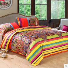 bright colorful patterned cute hippie duvet covers