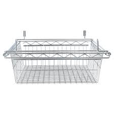 alera sliding wire basket for wire shelving 18w x 24d x 8h silver alera details
