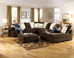 Large Living Room Rugs Living Room Stunning Picture Of Brown And Black Leather Big