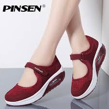 PINSEN <b>2019 Summer</b> Fashion <b>Women</b> Flat Platform <b>Shoes Woman</b> ...