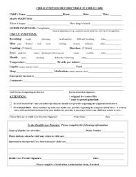 Daycare Form Fascinating Form Templates Daycare Forms Free Parent Child Contract Elegant