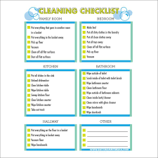 Clean Room Chart Printable Free Printable Cleaning Checklist For Kids