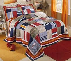 Navy Blue & Red Patchwork Teen Boy Bedding Twin Full/Queen Quilt ... & Navy Blue & Red Patchwork Teen Boy Bedding Twin Full/Queen Quilt Sets  Bedspread - Adamdwight.com
