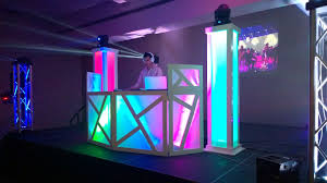 dj booth glow towers setup jayse7enevents