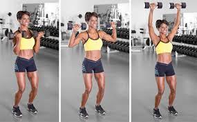 arnold press shoulder workout for women