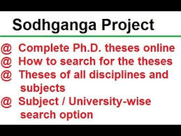 sodhganga how to search for ph d theses online for all subjects  sodhganga how to search for ph d theses online for all subjects
