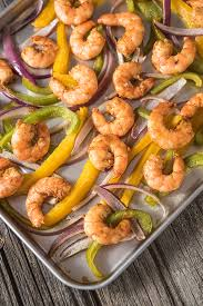 sheet pan shrimp fajitas sheet pan suppers shrimp fajitas everyday good thinking