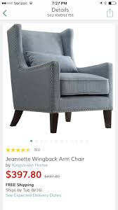 Murray Wingback Arm Chair Blue - Inspire Q. See More