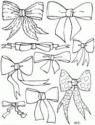 Small Picture Bows Coloring Pages Coloring Home