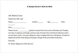 6 Printable Doctors Note For Work Templates Pdf Word