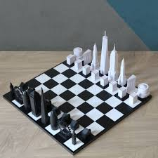 London Vs New York Skyline Chess Set