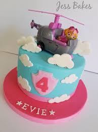 Skye Paw Patrol Cake Edible Topper Tin Ideas Party Pan Toy