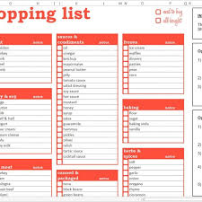 Grocery Shopping List Excel Template Savvy Spreadsheets Inside