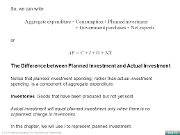 aggregate expenditure consumption planned investment