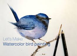 how to paint watercolor bird painting easy step by step learning