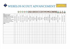 Webelos Attendance Chart Pin On Scouts Webelos