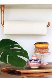 diy suspended copper pipe paper towel holder squirrelly minds