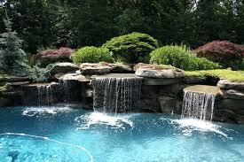 Rock Waterfalls For Inground Pools Perfect Design Pool Waterfalls