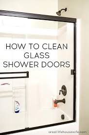 what to use to clean glass shower doors clean hard water stains off glass shower doors