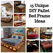 unique diy furniture. Delighful Diy 15 Unique DIY Pallet Bed Frame Ideas For Diy Furniture D