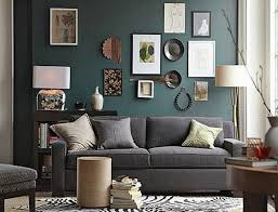 artistic wall frames with grey couch