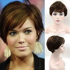 4 Paruky Nádherné ženské účes Brazilské Vlasy Paruka Hnědé Elegantní