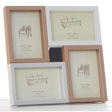 metallic multi aperture photo frame