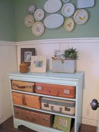 Creative Idea:Dark Old Style Suitcase Drawer Design With Vintage Decorations  Room Decor With Vintage