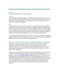 Light Factory Adelaide Commercial Lighting Solutions For Adelaide Businesses By