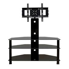 promounts 3 glass shelf tv stand mountupto 60