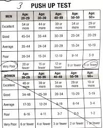 Push Up Chart How Many Pushups Is The Average Person Expected To Be Able