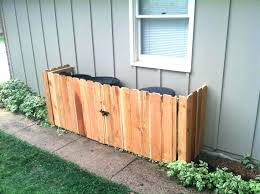 outdoor trash can storage cabinet cans bins for shed plans box outside trash storage