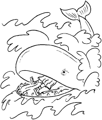 Small Picture Free Bible Coloring Pages Jonah and the Whale JONAH AND THE