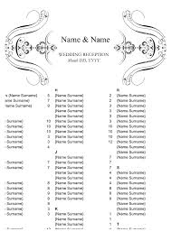 Wedding Seating Arrangements Template Wedding Seating Chart Template In Word And Pdf Formats